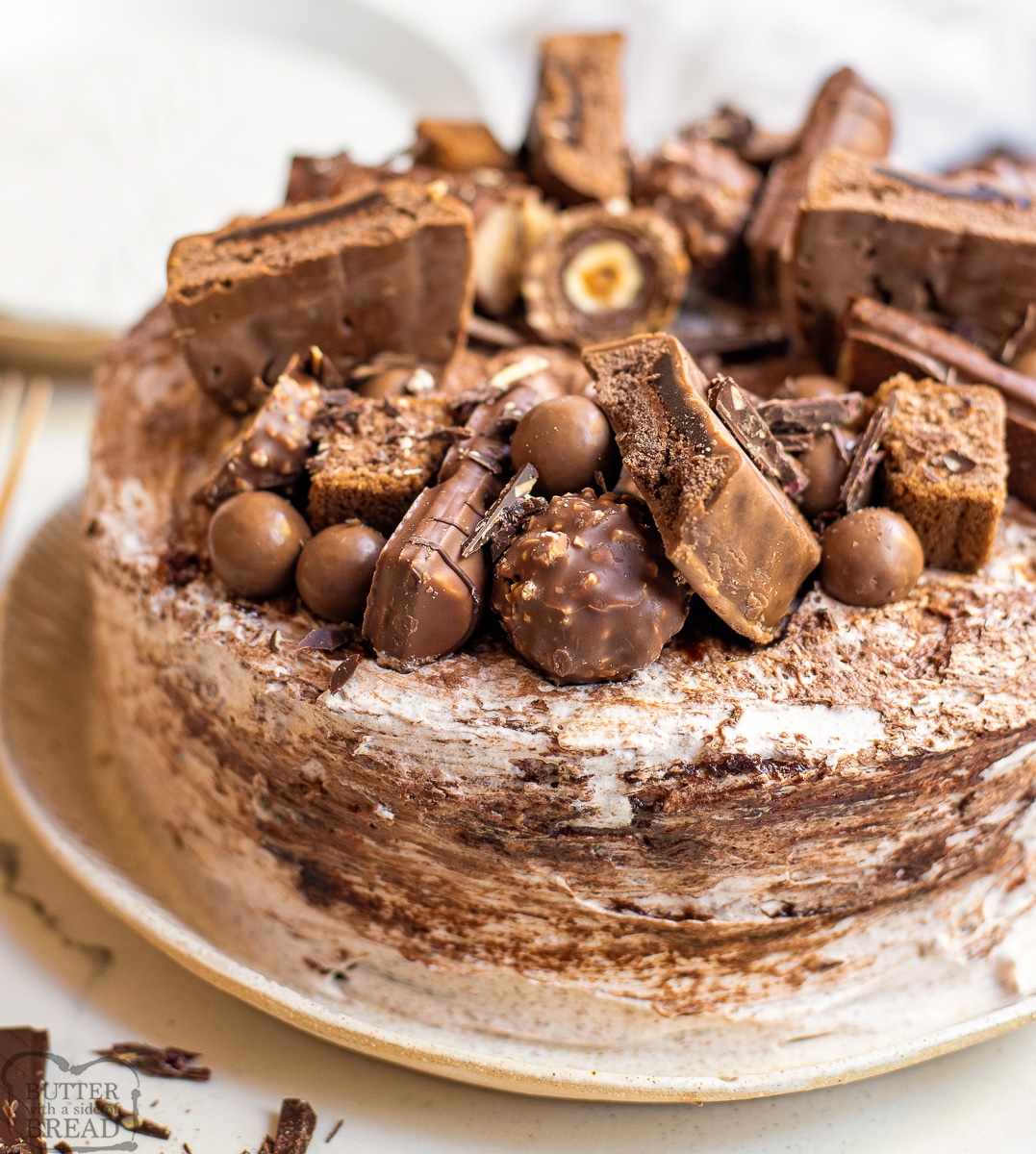 Chocolate Cake with Chocolate Mousse Frosting