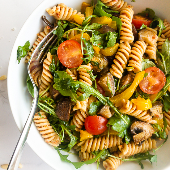 The Best Pasta Salad with Red Pesto